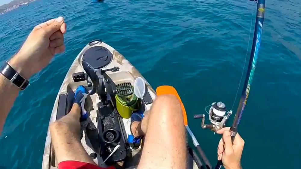 kayak a pedali da pesca